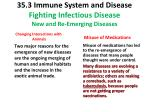 35 3 immune system and disease fighting infectious disease new and re emerging diseases3