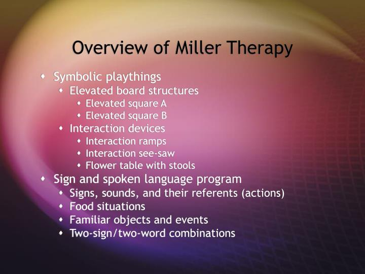 Overview of Miller Therapy