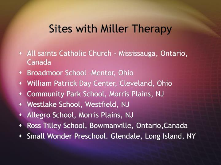 Sites with Miller Therapy