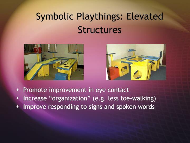 Symbolic Playthings: Elevated Structures