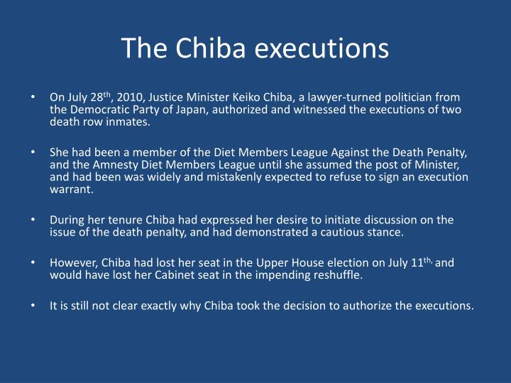 The Chiba executions