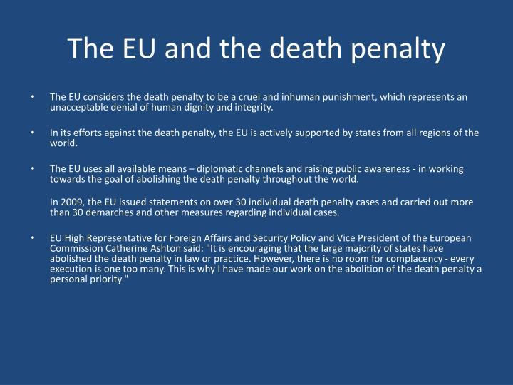The EU and the death penalty