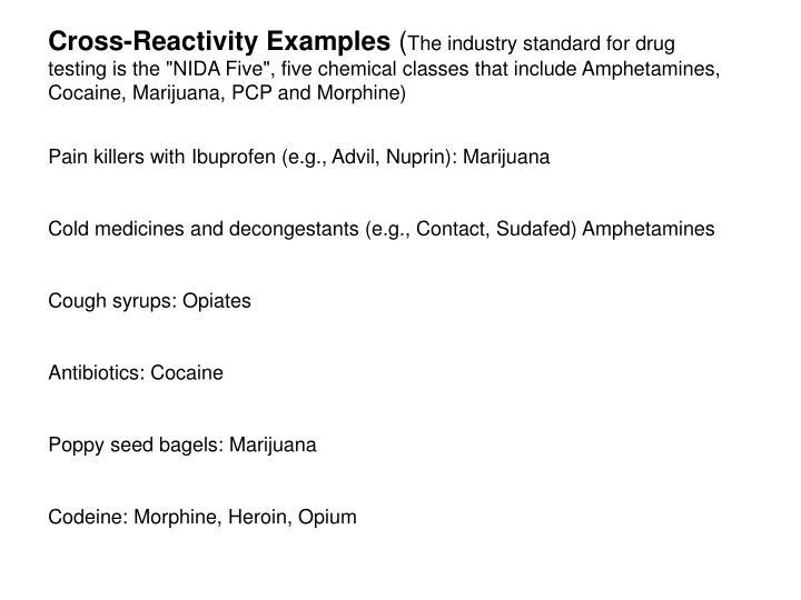 Cross-Reactivity Examples