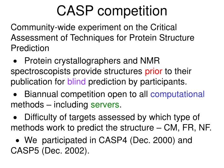CASP competition