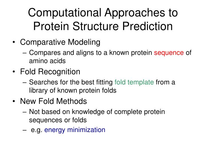 Computational Approaches to Protein Structure Prediction
