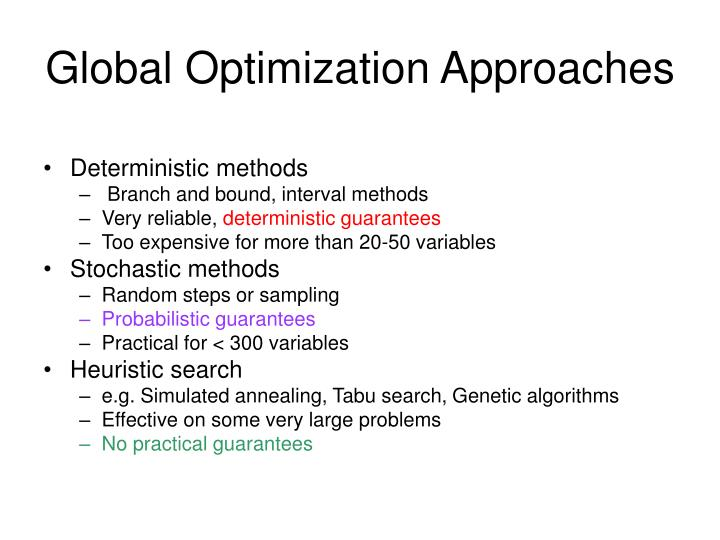 Global Optimization Approaches