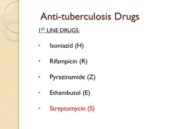 Anti-tuberculosis Drugs