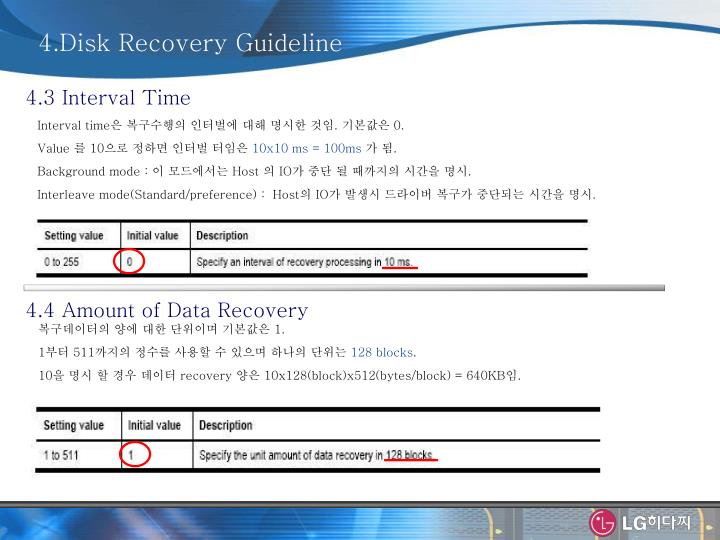 4.Disk Recovery Guideline