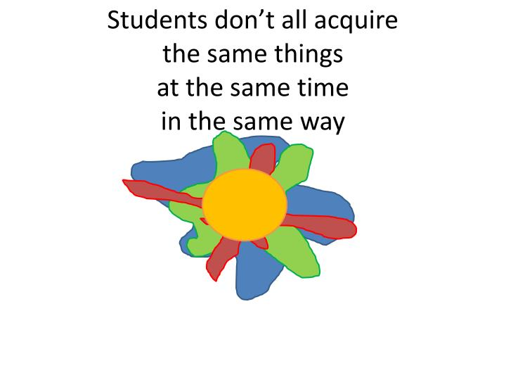 Students don't all acquire