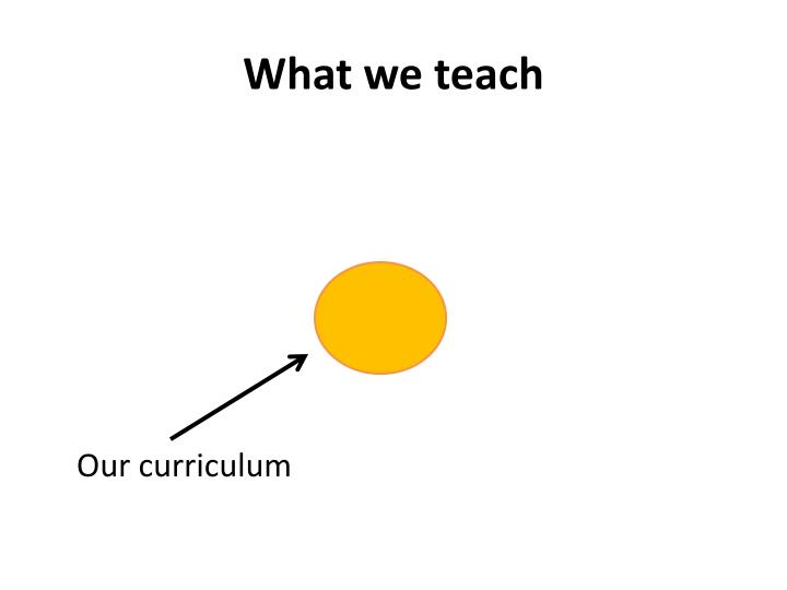 What we teach1