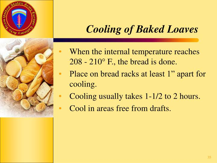 Cooling of Baked Loaves
