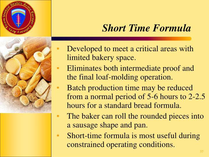 Short Time Formula