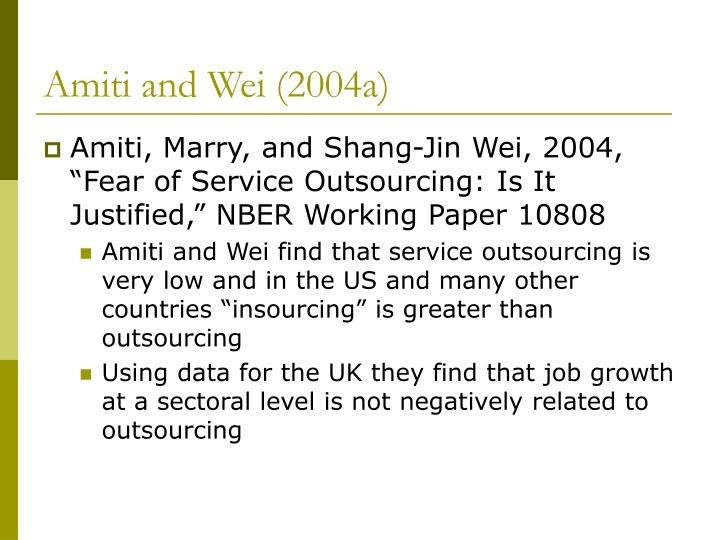 Amiti and Wei (2004a)