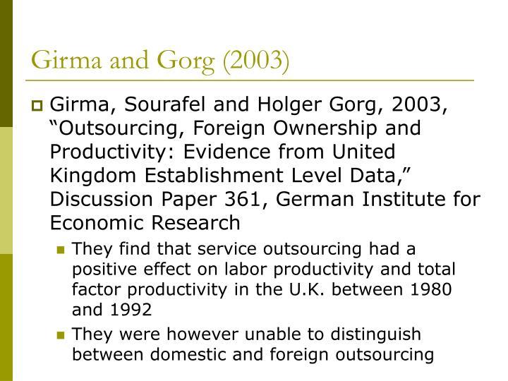 Girma and Gorg (2003)
