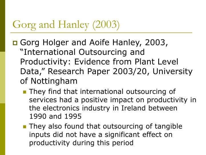 Gorg and Hanley (2003)