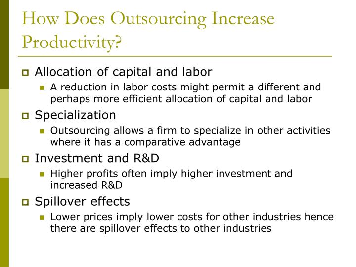 How Does Outsourcing Increase Productivity?