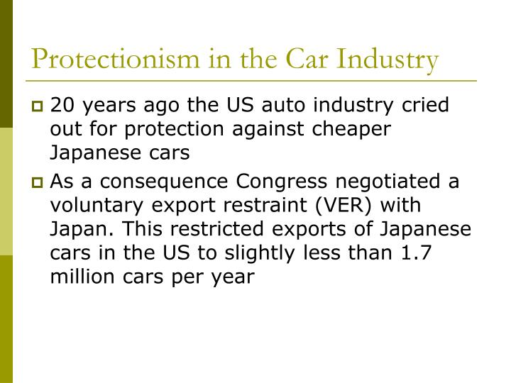 Protectionism in the Car Industry