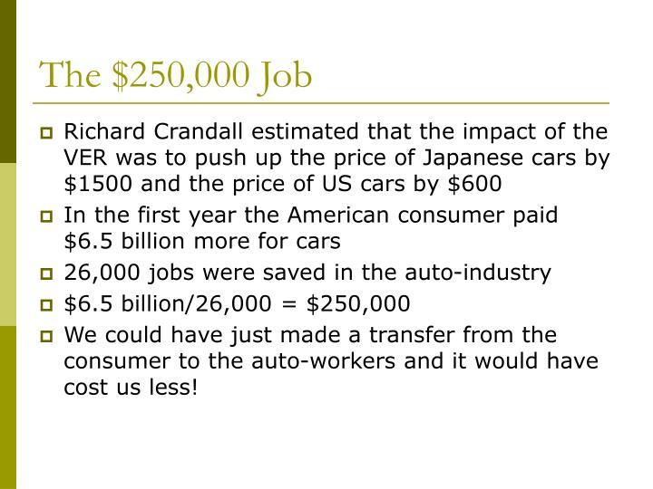 The $250,000 Job