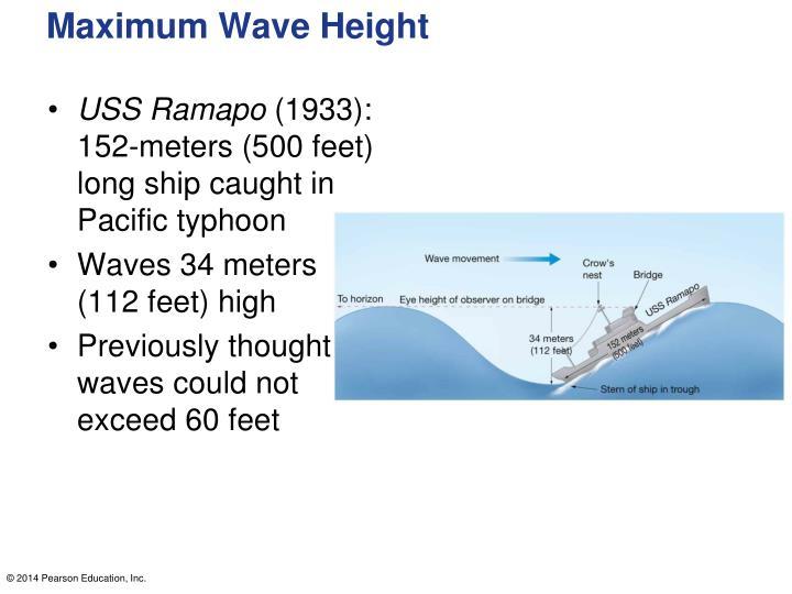 Maximum Wave Height