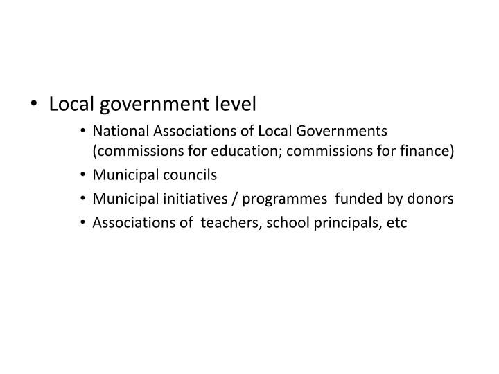 Local government level