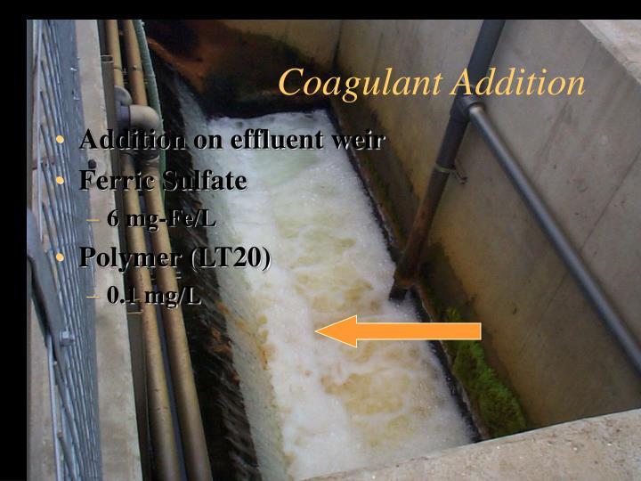 Coagulant Addition