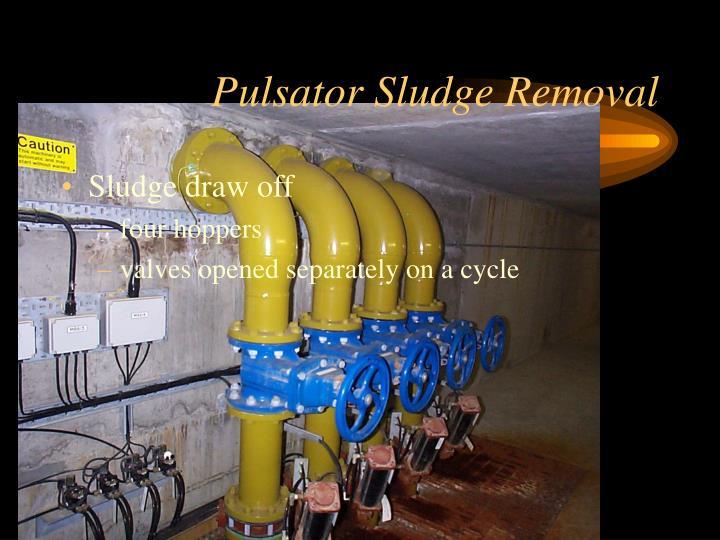 Pulsator Sludge Removal