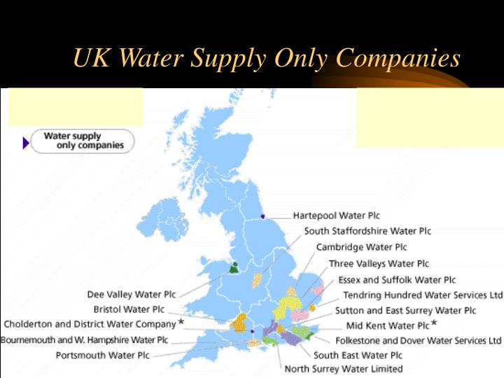 UK Water Supply Only Companies