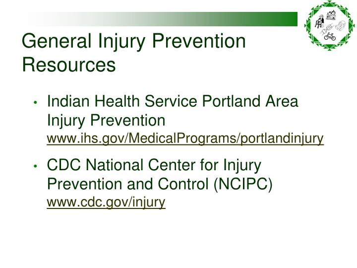 General Injury Prevention Resources