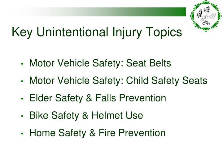 Key Unintentional Injury Topics