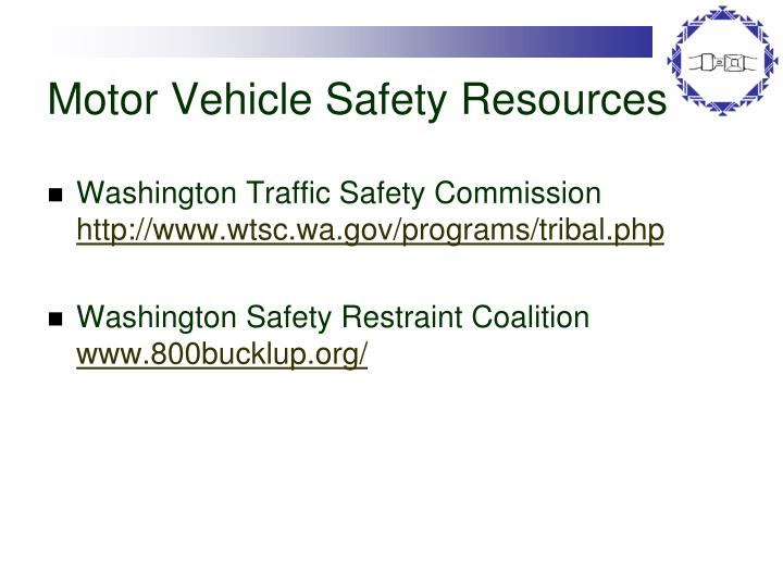 Motor Vehicle Safety Resources