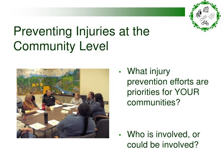 Preventing Injuries at the Community Level