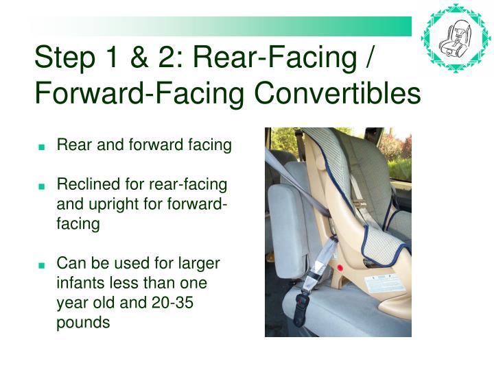 Step 1 & 2: Rear-Facing / Forward-Facing Convertibles