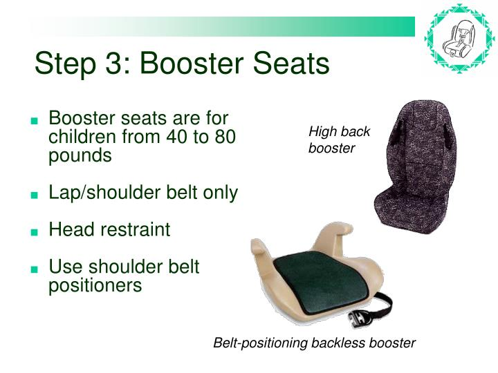 Step 3: Booster Seats