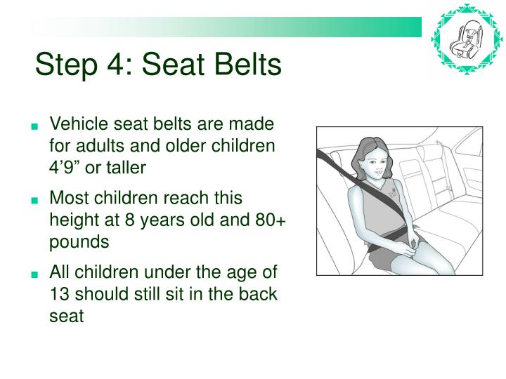 Step 4: Seat Belts