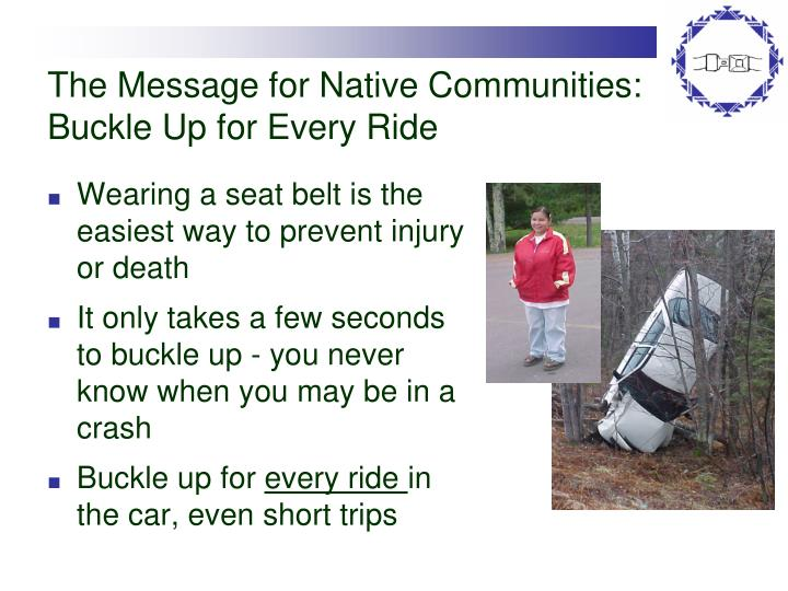 The Message for Native Communities: Buckle Up for Every Ride