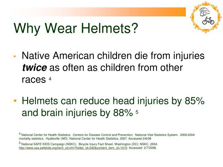 Why Wear Helmets?