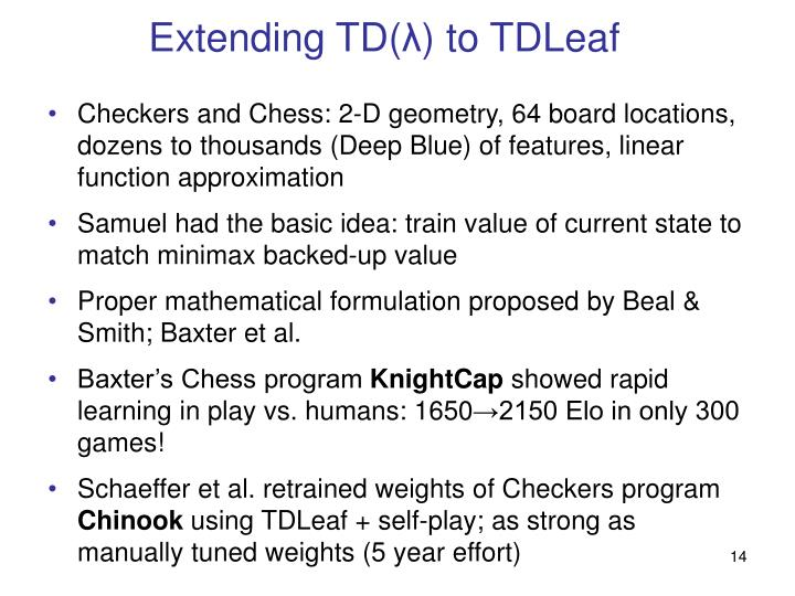 Extending TD(