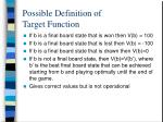 possible definition of target function