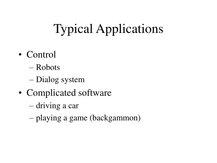 Typical applications1