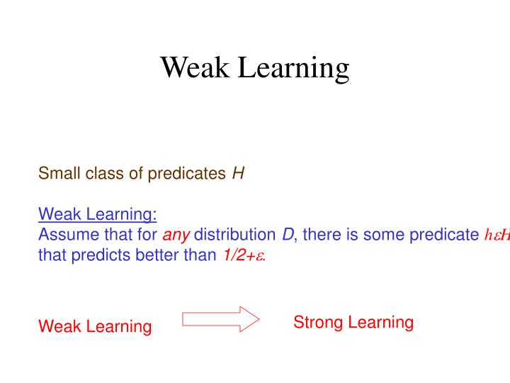 Weak Learning
