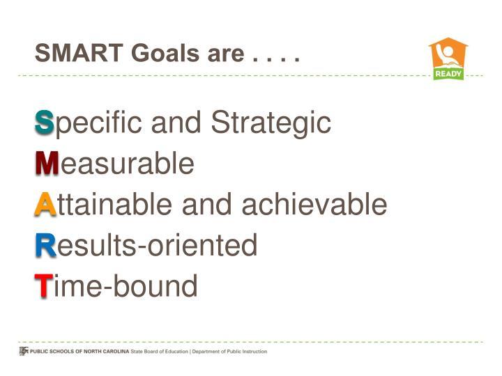 SMART Goals are . . . .