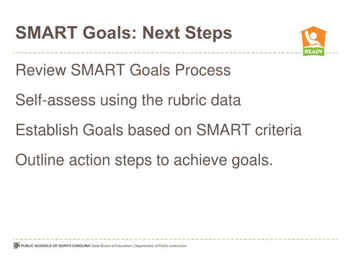 SMART Goals: Next Steps