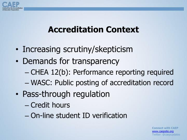 Accreditation Context