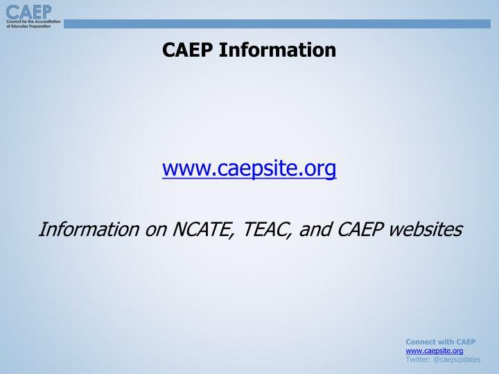 CAEP Information