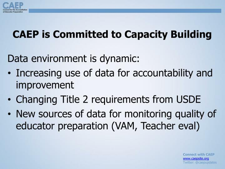 CAEP is Committed to Capacity Building