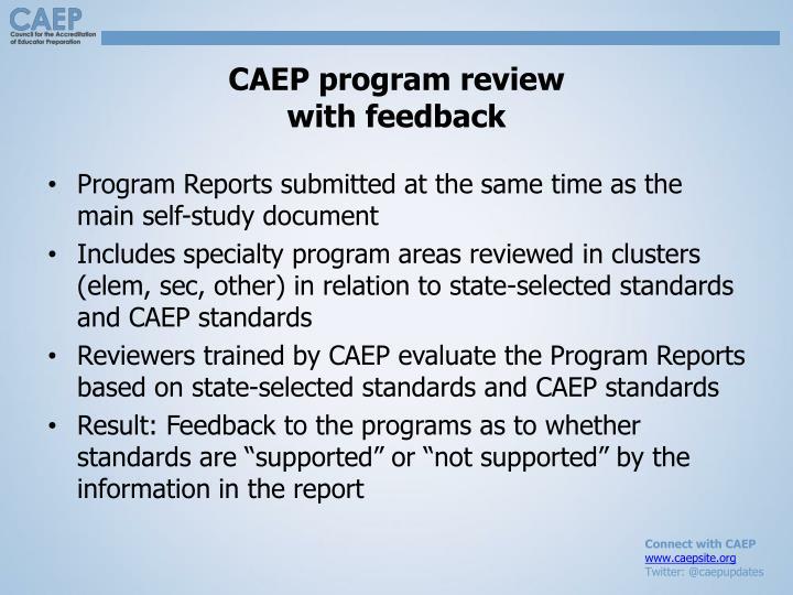 CAEP program review