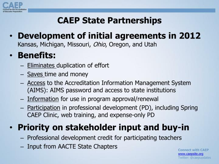 CAEP State Partnerships