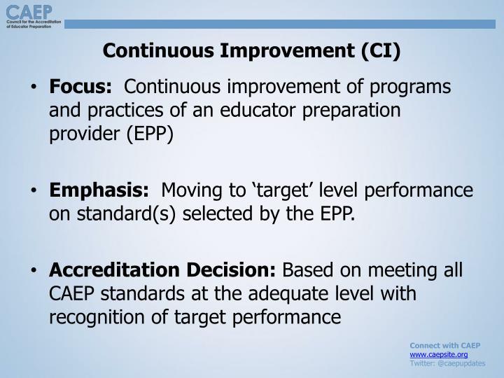 Continuous Improvement (CI)