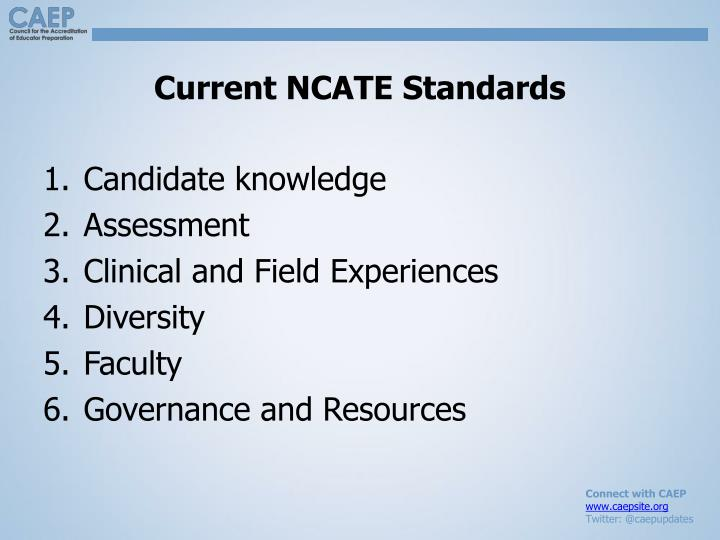 Current NCATE Standards