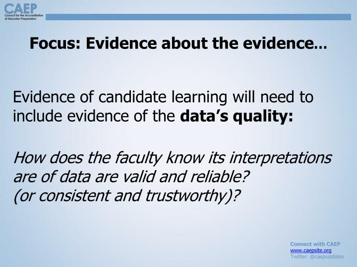 Focus: Evidence about the evidence